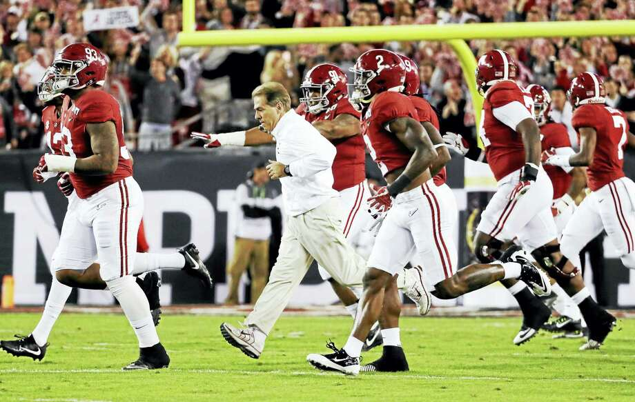 Nick Saban and Alabama will take on Florida State on ABC's first Saturday night football game of the 2017 season. Photo: The Associated Press File Photo  / Copyright 2017 The Associated Press. All rights reserved.