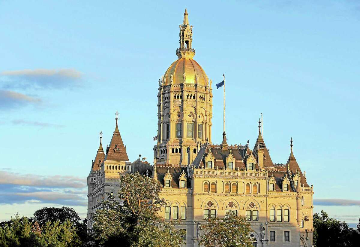 The Connecticut State Capitol building is seen in Hartford.