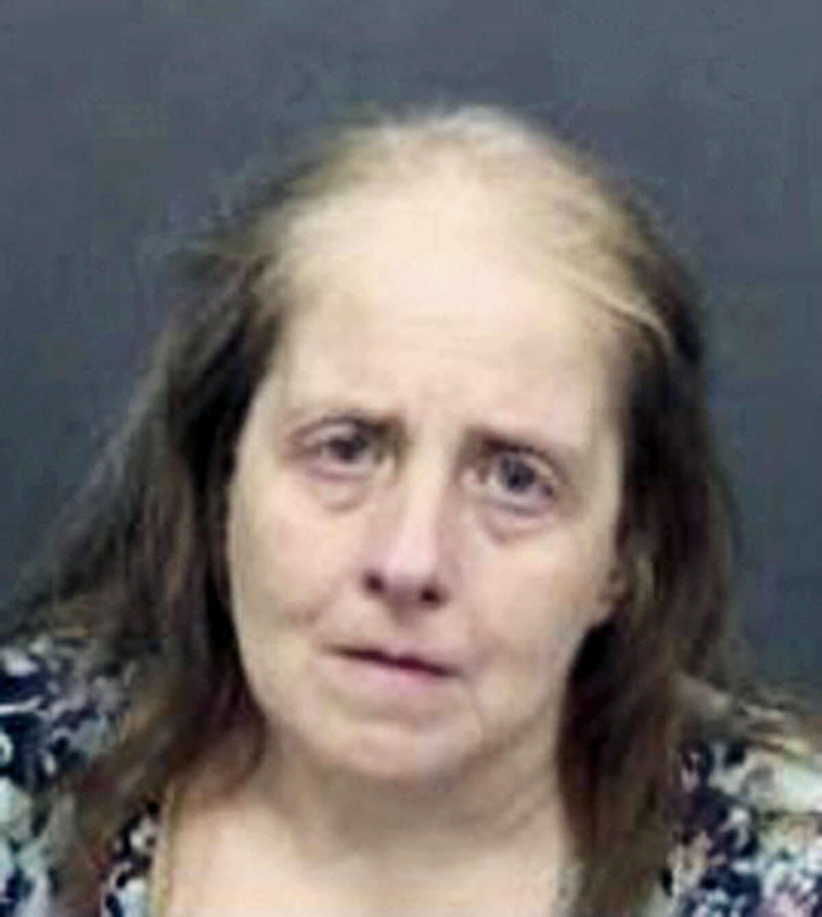 An undated photo provided by the Hillsborough County Sheriff's Office shows Lucy Richards, 57, of Brandon, Fla. The public defender for Richards said in court papers filed Wednesday, May 24, 2017, she will plead guilty to threatening Lenny Pozner, the father of Noah Pozner, who died in the Sandy Hook school shooting in Newtown, Connecticut.