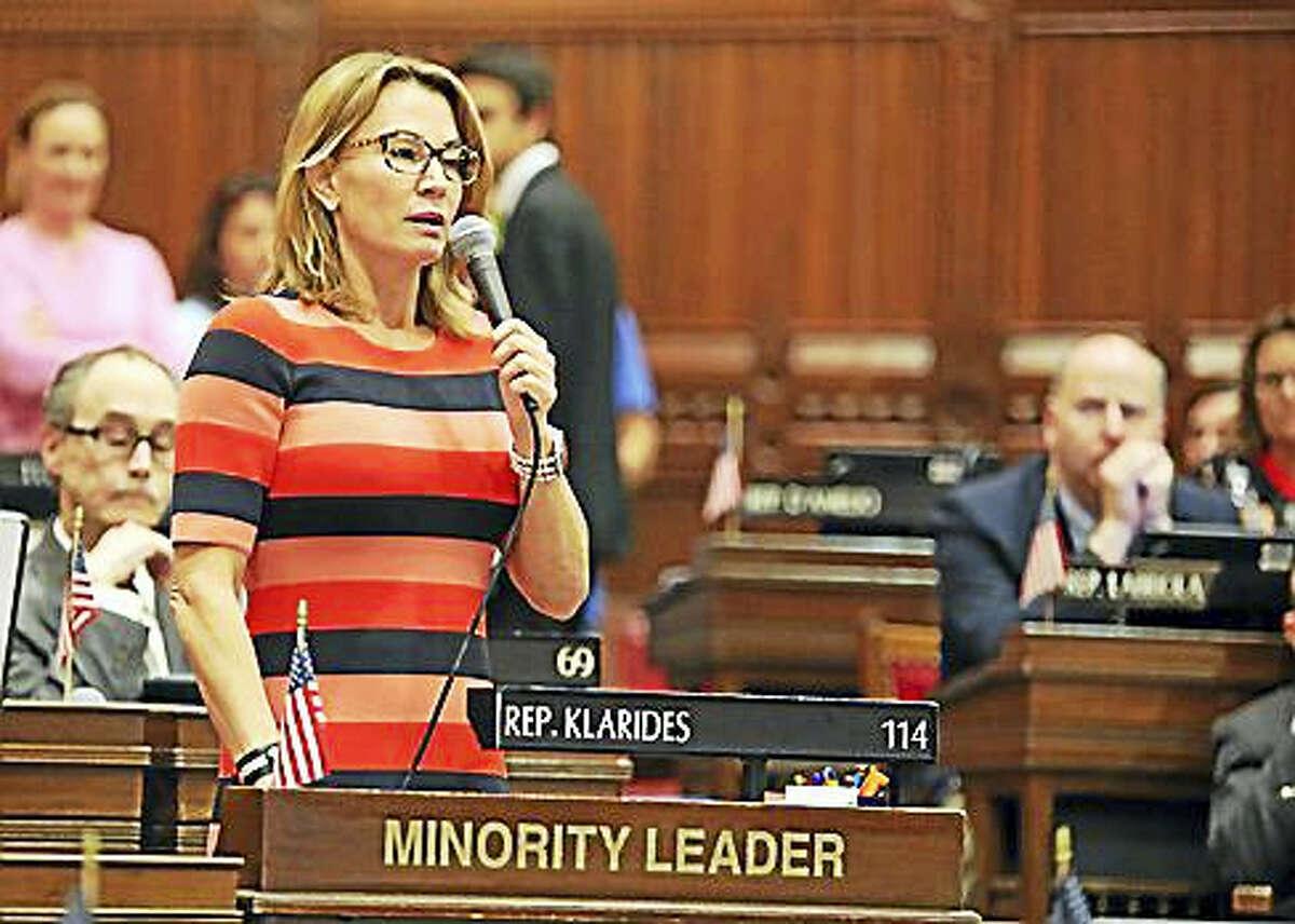 House Minority Leader Themis Klarides, R-Derby