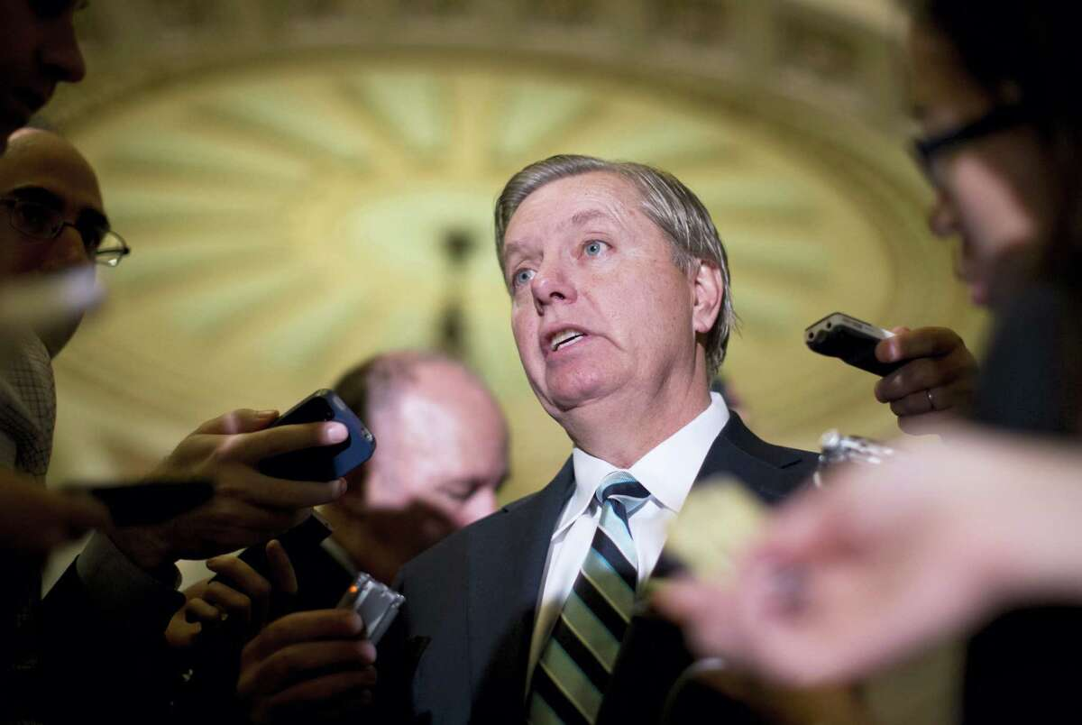Carolyn Kaster — the associated Press Sen. Lindsey Graham, R-S.C., speaks with reporters on Capitol Hill in Washington.