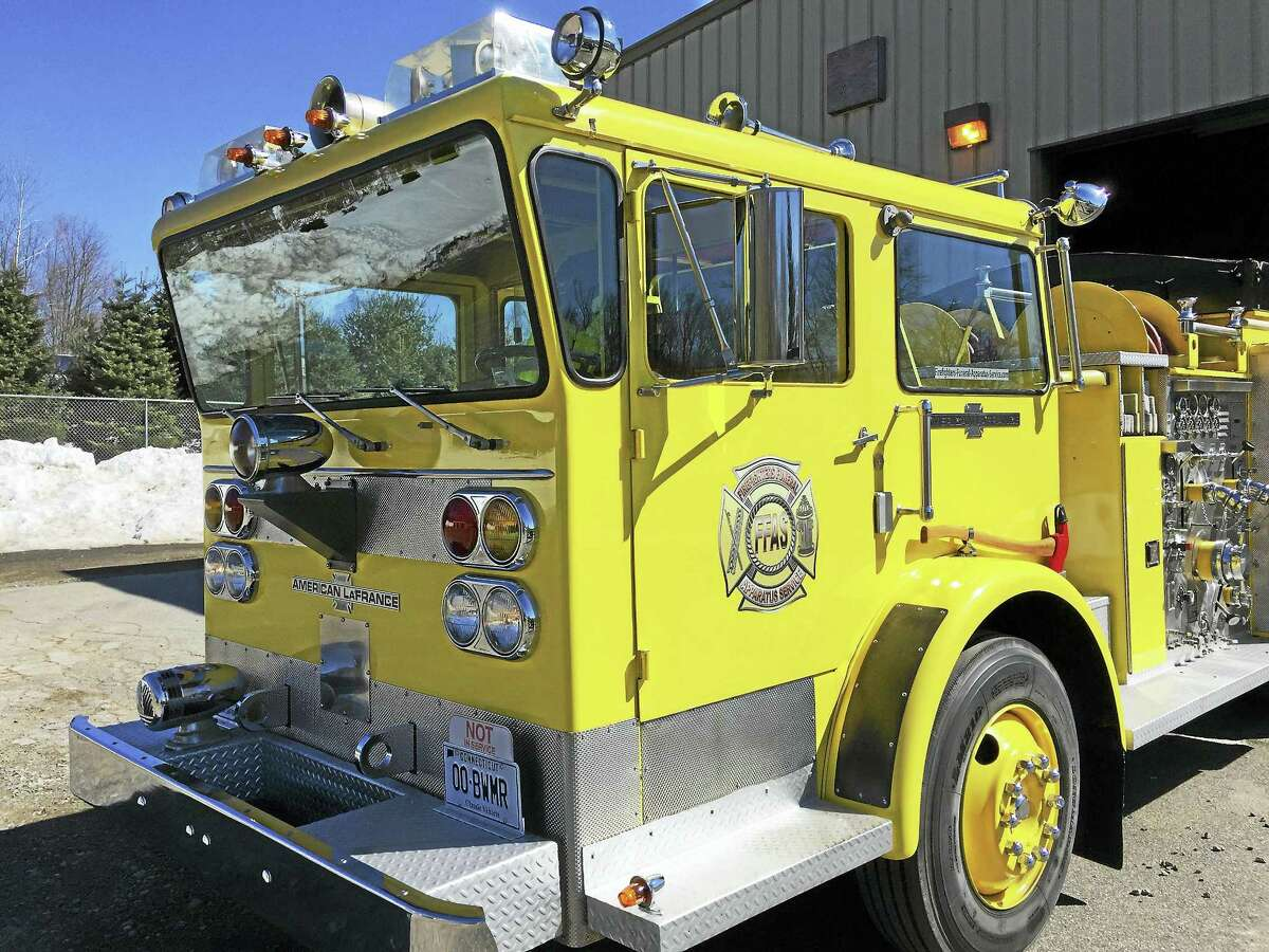"""Erwin """"Jay"""" Krause has outfitted a fire truck to carry a deceased firefighter or EMT, honoring them for their service during their funeral."""