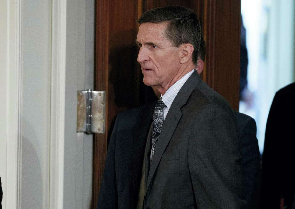 Evan Vucci — AP Photo, file In this Feb. 13, 2017 file photo, Mike Flynn arrives for a news conference in the East Room of the White House in Washington. The former national security adviser will invoke his Fifth Amendment protection against self-incrimination on Monday, May 22, 2017, as he notifies the Senate Intelligence committee that he will not comply with a subpoena seeking documents.