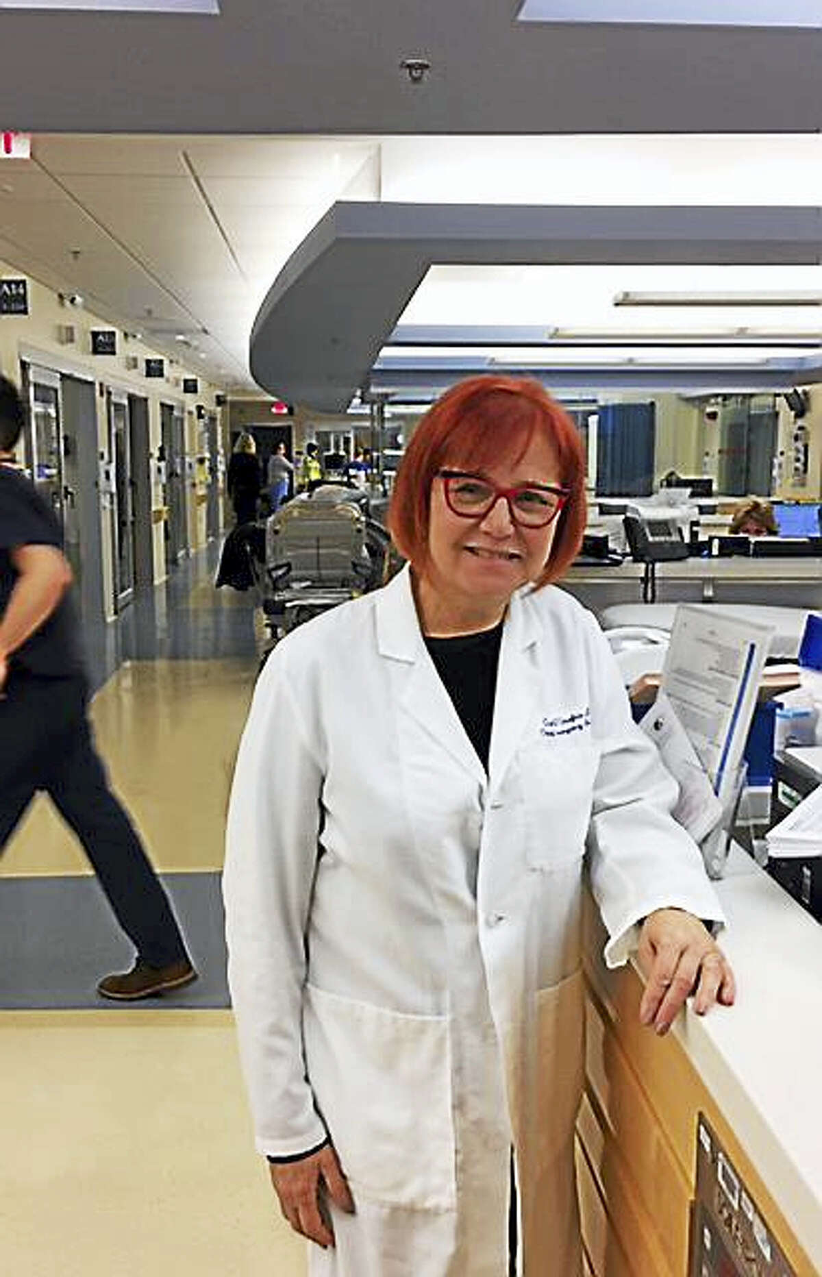 Dr. Gail D'Onofrio, chief of emergency medicine at Yale New Haven Hospital and chairwoman of emergency medicine at Yale School of Medicine.