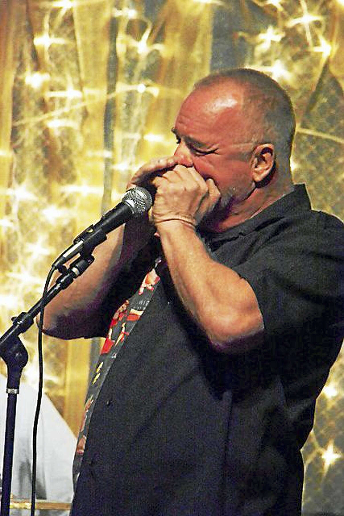 Mike Crandall plays the Blues Blizzard Saturday. The event is being hosted by the Hannon-Hatch VFW Post 9929 in West Hartford.