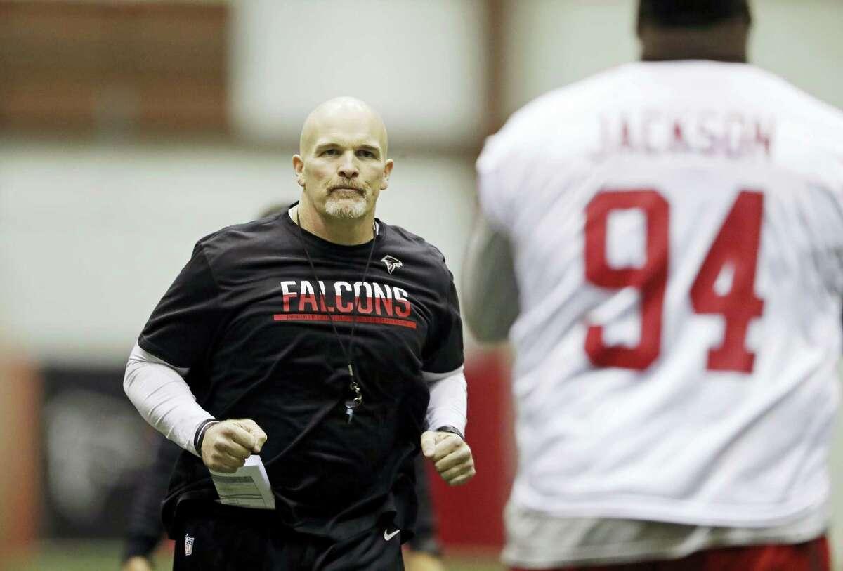 Atlanta Falcons head coach Dan Quinn.