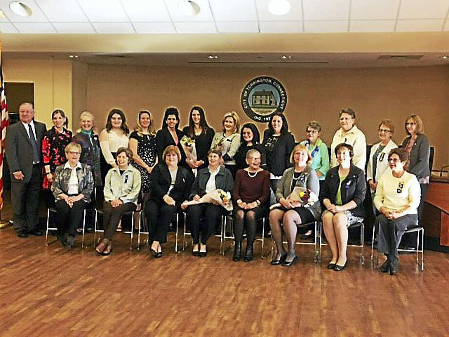 Members of the United Way of Northwest Connecticut's Women's Leadership Initiative Committee met Monday to present awards. Photo: Contributed Photo