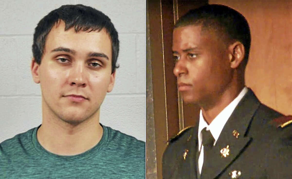 Richard Collins III, right, was killed early Saturday; Sean Urbanski, left, is being held on murder charges in the student's death.