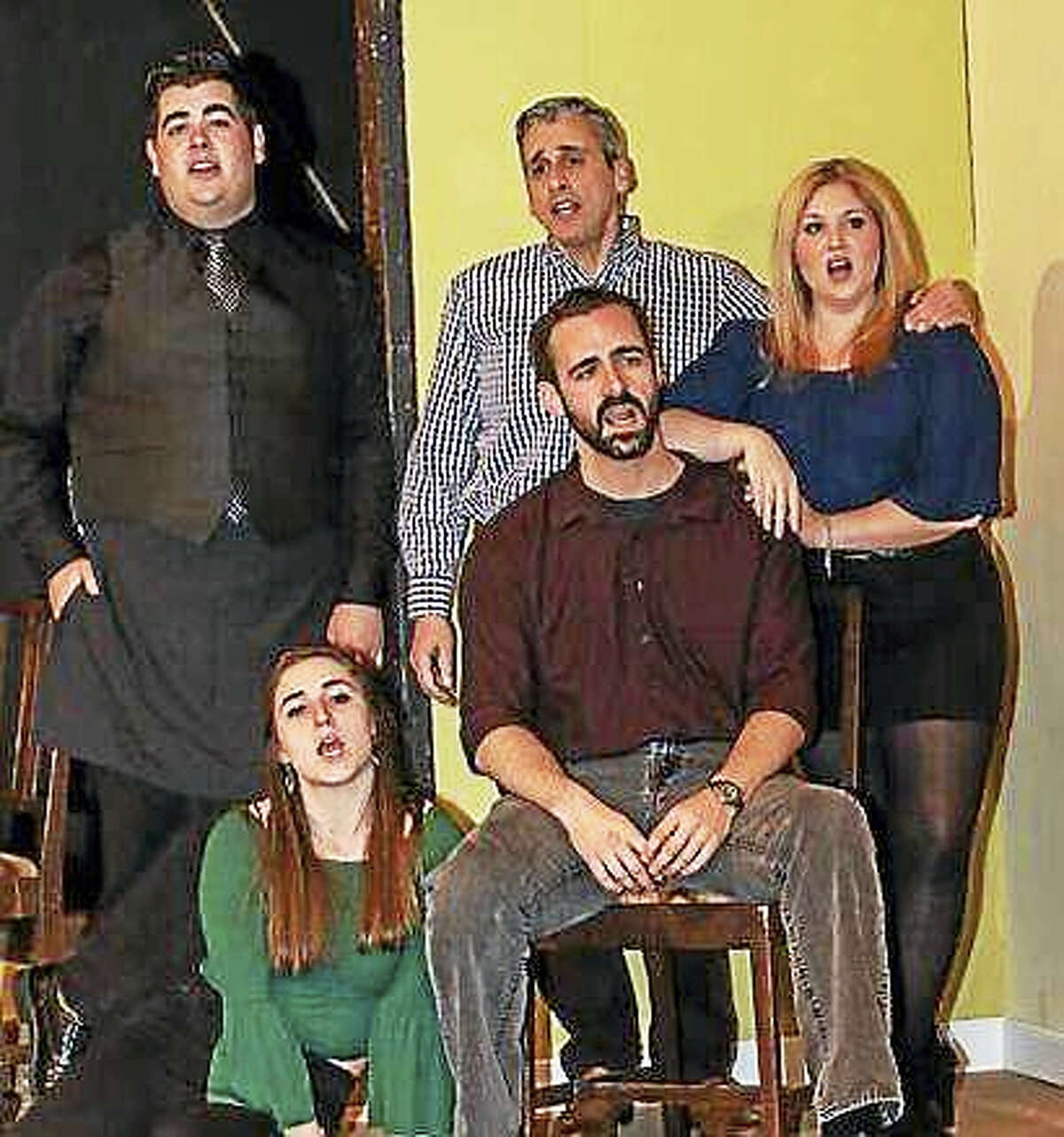 """The Goshen Players present the comedy musical, """"First Date"""" opening March 31 at the Goshen Old Town Hall."""