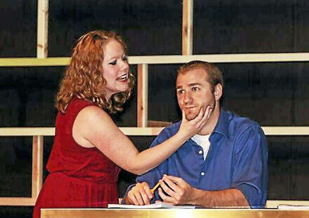 """The Goshen Players present the comic musical, """"First Date"""" opening March 31 at the Goshen Old Town Hall."""