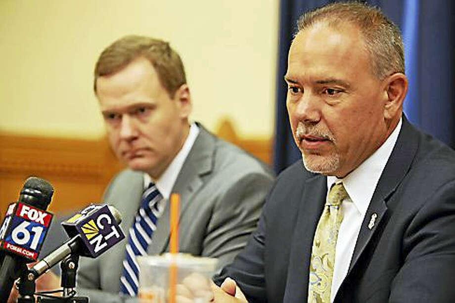 House Speaker Joe Aresimowicz and House Majority Leader Matt Ritter Photo: Digital First Media