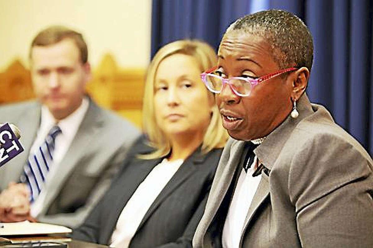 Rep. Robyn Porter and Rep. Liz Lenehan (Contributed photo - CTNewsjunkie.com)