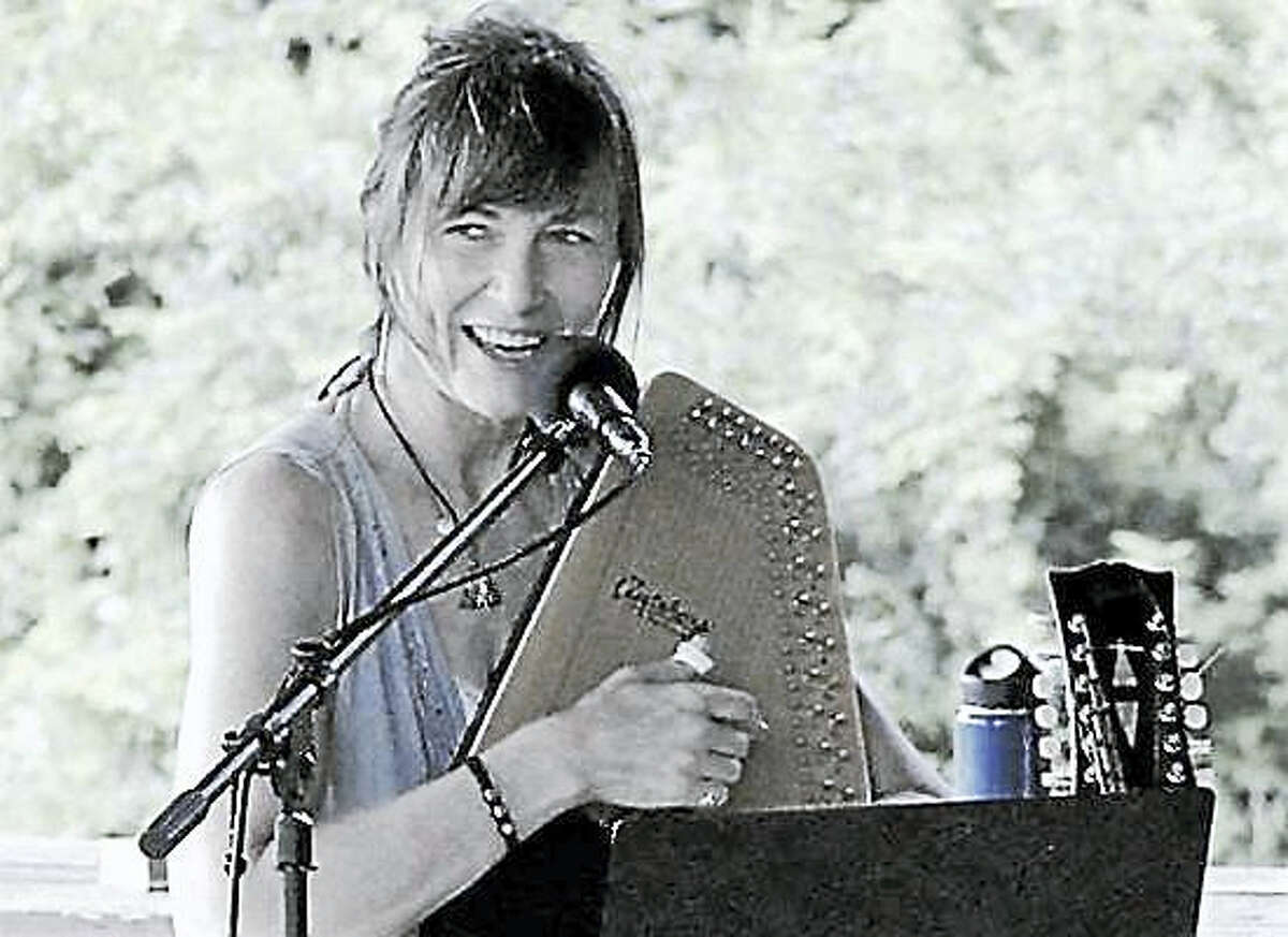 Gale Gardiner joins other members of the Singer-Songwriter Network in Torrington at Saturday in the Park.