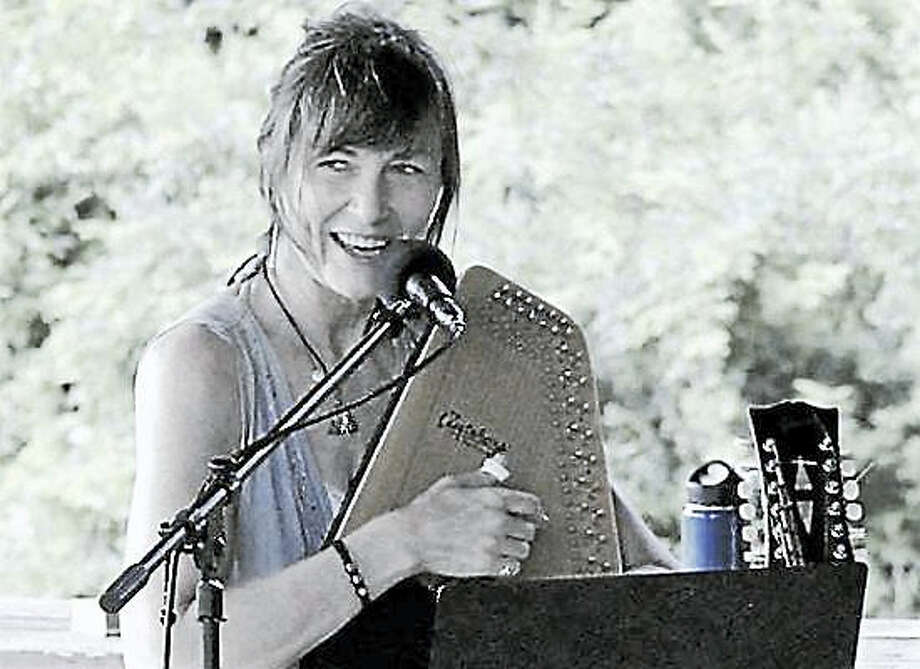 Gale Gardiner joins other members of the Singer-Songwriter Network in Torrington at Saturday in the Park. Photo: Contributed Photo