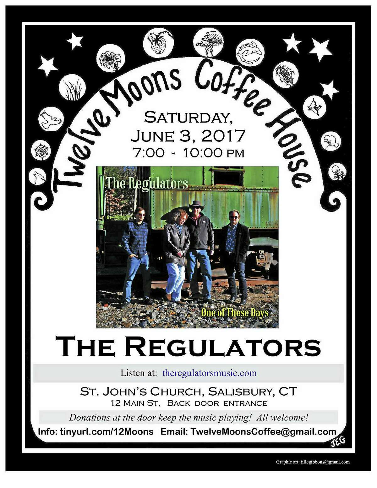 The Regulators will perform at 12 Moons Coffee House on Saturday, June 3.