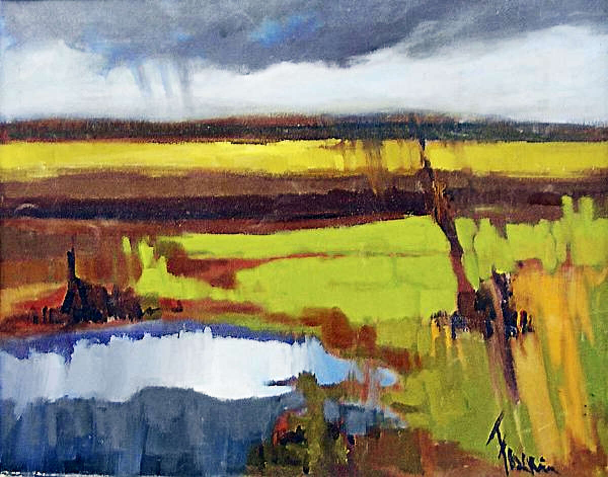 Storm Clearing, a painting by Frank Federico, featured in a new exhibit at the Loft Gallery.
