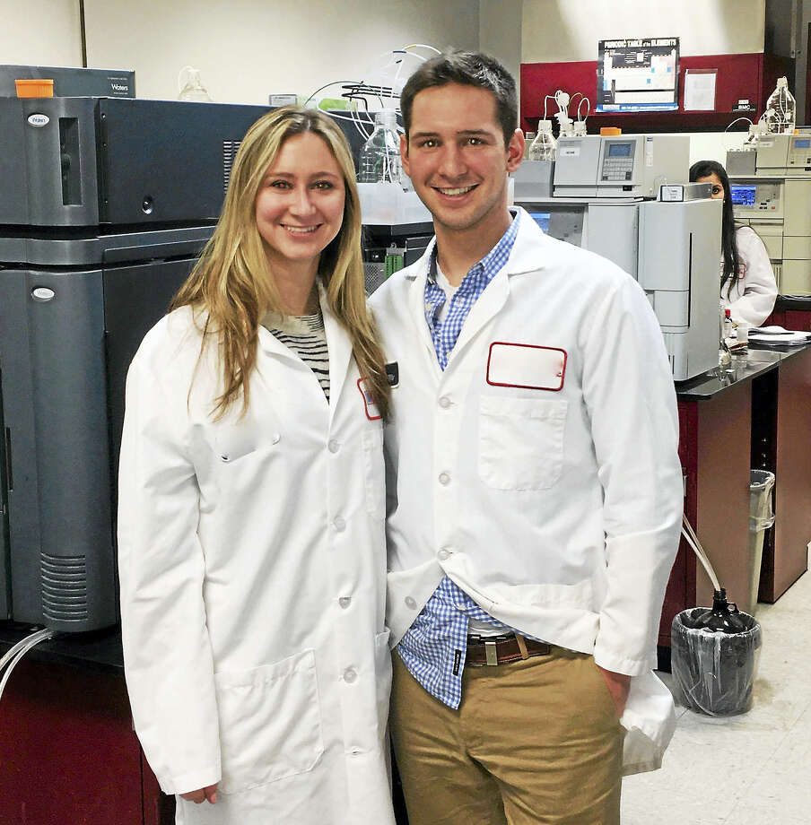 Yale University seniors Margaret Morse and Liam McClintock, co-founders of the hangover supplement SunUp. Photo: Courtesy Photo