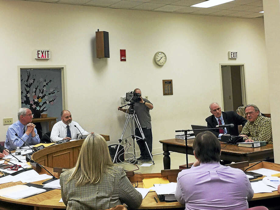 Winsted Town Manager Robert Geiger presented his proposed budget for the 2017-18 fiscal year Monday. Photo: Ben Lambert — The Register Citizen