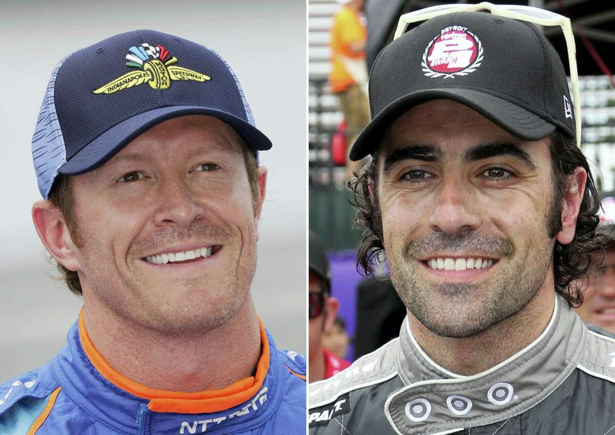 Police say Indianapolis 500 pole-sitter Scott Dixon, left, and fellow former race winner Dario Franchitti were robbed at gunpoint while in a Taco Bell drive-thru lane, Sunday night less than a mile from the Indianapolis Motor Speedway.