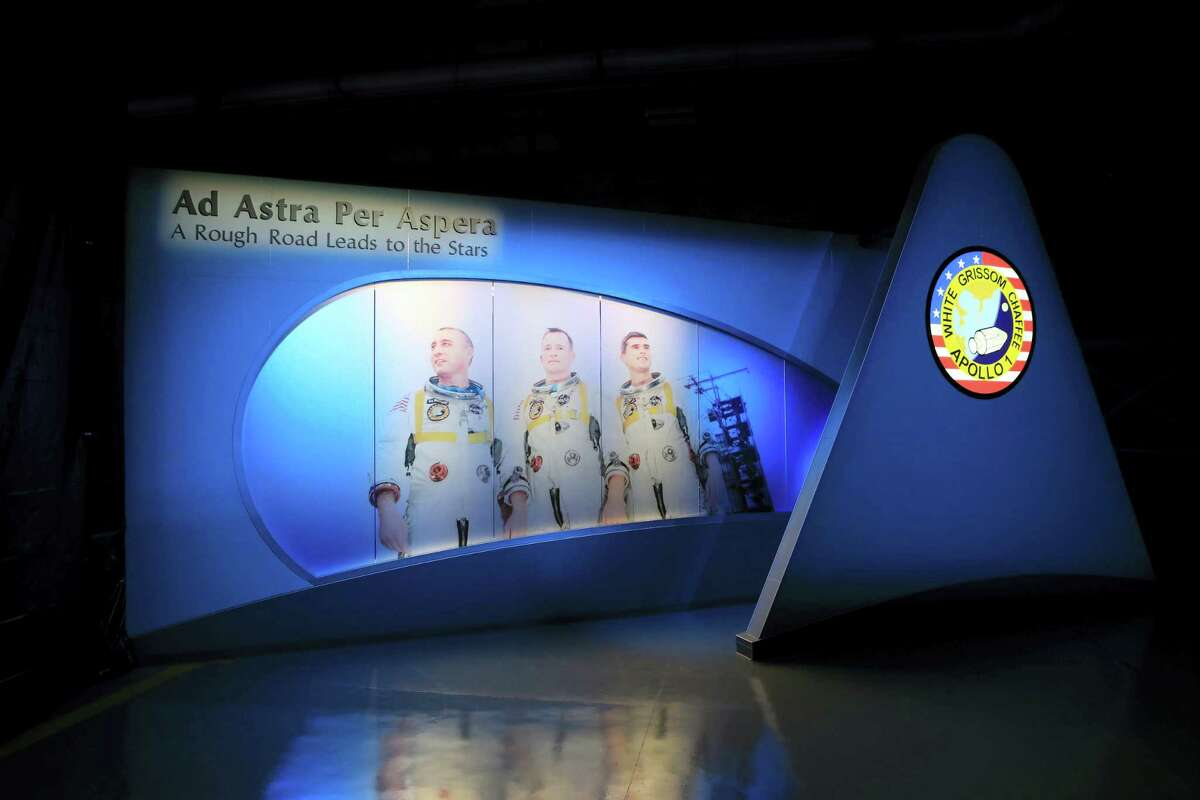 Part of the Apollo 1 exhibit at the Kennedy Space Center in Titusville, Fla.