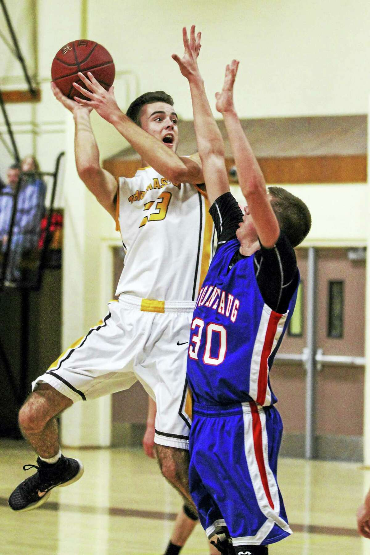 Thomaston center Noah Daigle combines height with athleticism to make him one of the best players in the Berkshire League.