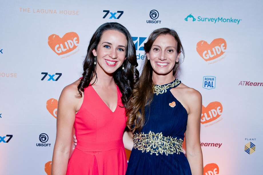 Glide Legacy Gala co-chairs Amy Gardner (left) and Laura Thompson. Aug. 5, 2017. Photo: Alain McLaughlin