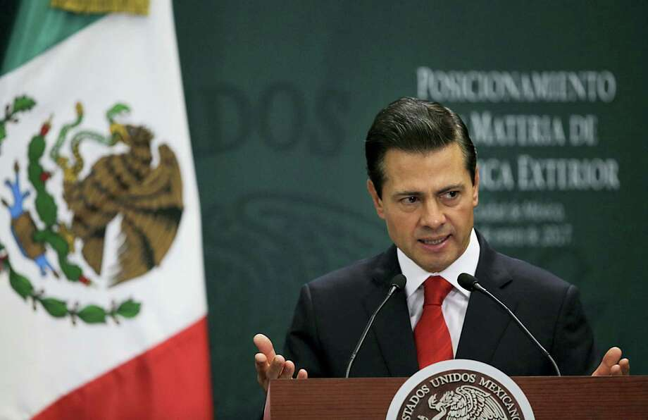Mexico's President Enrique Pena Nieto speaks during a press conference at Los Pinos presidential residence in Mexico City, Monday, Jan. 23, 2017. Photo: Marco Ugarte — AP Photo  / Copyright 2017 The Associated Press. All rights reserved.