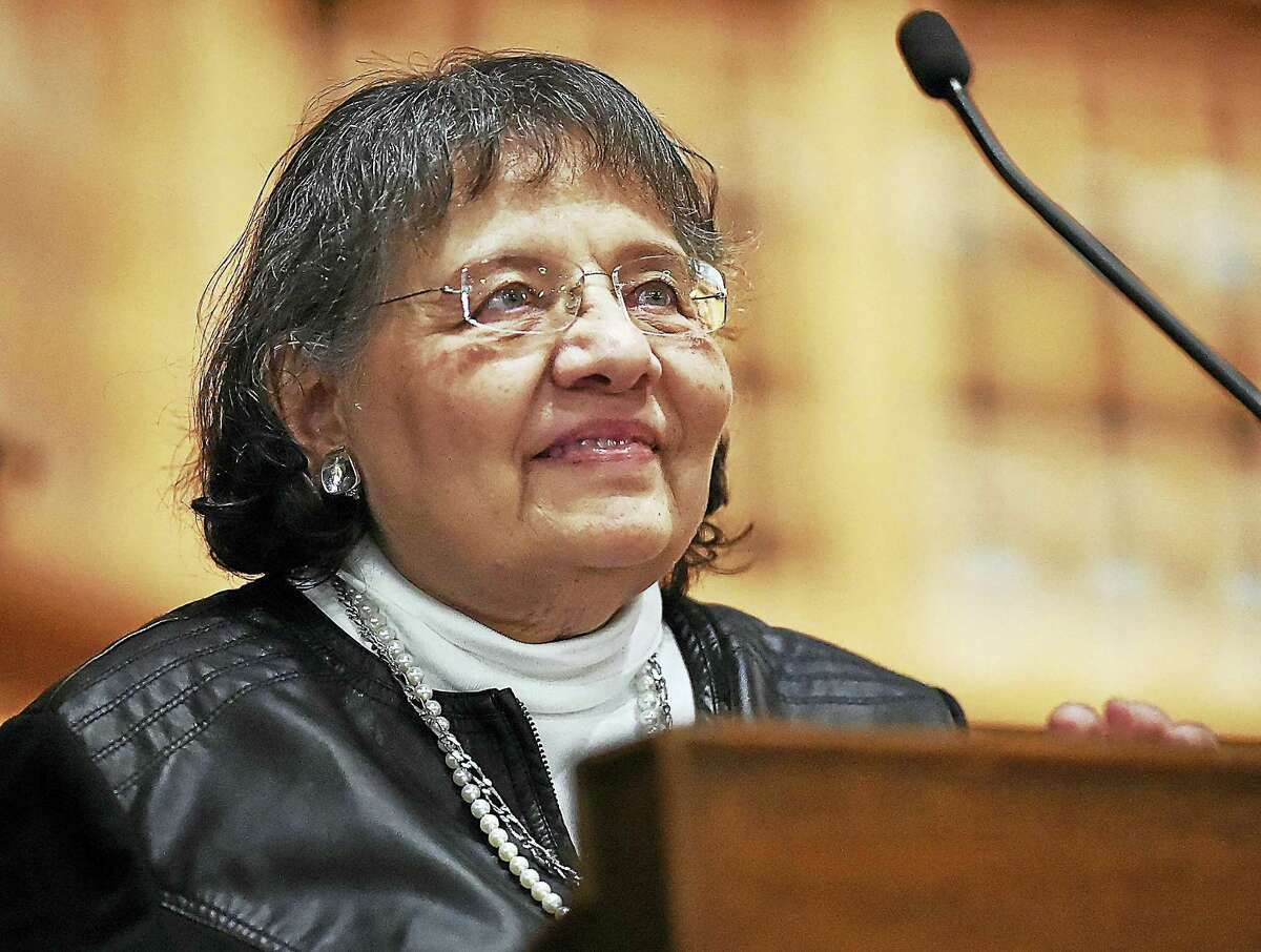 Diane Nash, a civil rights activist and strategist of the student wing of the Freedom Riders of the Civil Rights Movement, speaks at Wednesday's lecture.