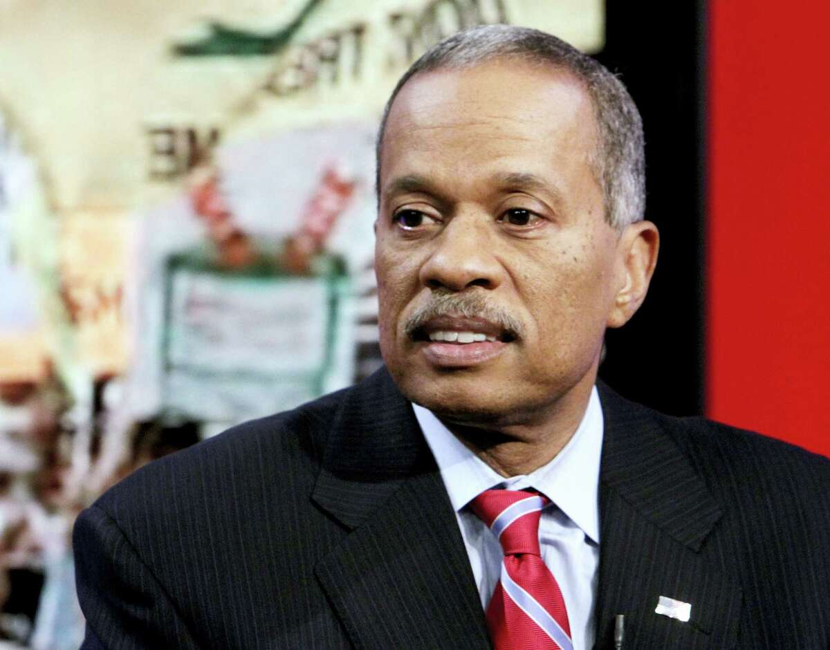 """In this Oct. 21, 2010, file photo, Juan Williams appears on the """"Fox & Friends"""" television program in New York,. Williams said on March 16, 2017, that a reported incident last year involving himself, Sean Hannity and a gun """"is being sensationalized."""""""