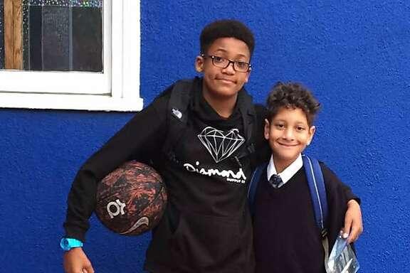 Zane and Aidan, first day of school 2017.