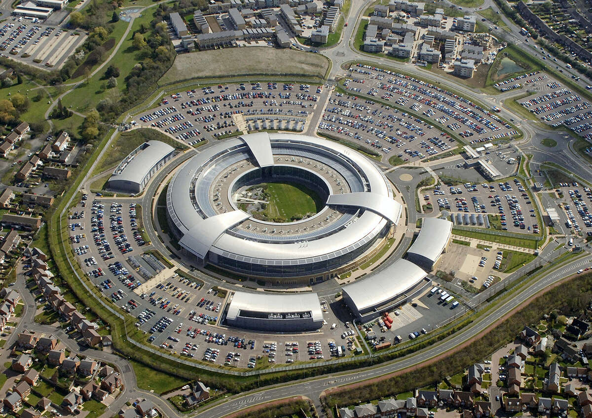 """FILE - This is an undated handout file photo issued by GCHQ of the Government Communication Headquarters building in Cheltenham. White House spokesman Sean Spicer on Thursday March 16, 2017 cited Fox News analyst Andrew Napolitano, who suggested that the British electronic surveillance agency GCHQ had helped former President Barack Obama spy on Trump before last year's presidential election. GCHQ took the unusual step of releasing a statement calling the claims """"nonsense."""""""