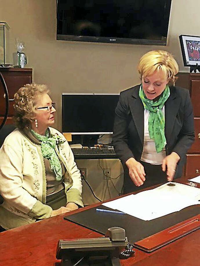 June Zeiner was named the 2017 Lord Mayor for the city of Torrington Friday, during the city's annual St. Patrick's Day celebration. She was recognized for her volunteer work and Irish heritage. Photo: CONTRIBUTED PHOTO