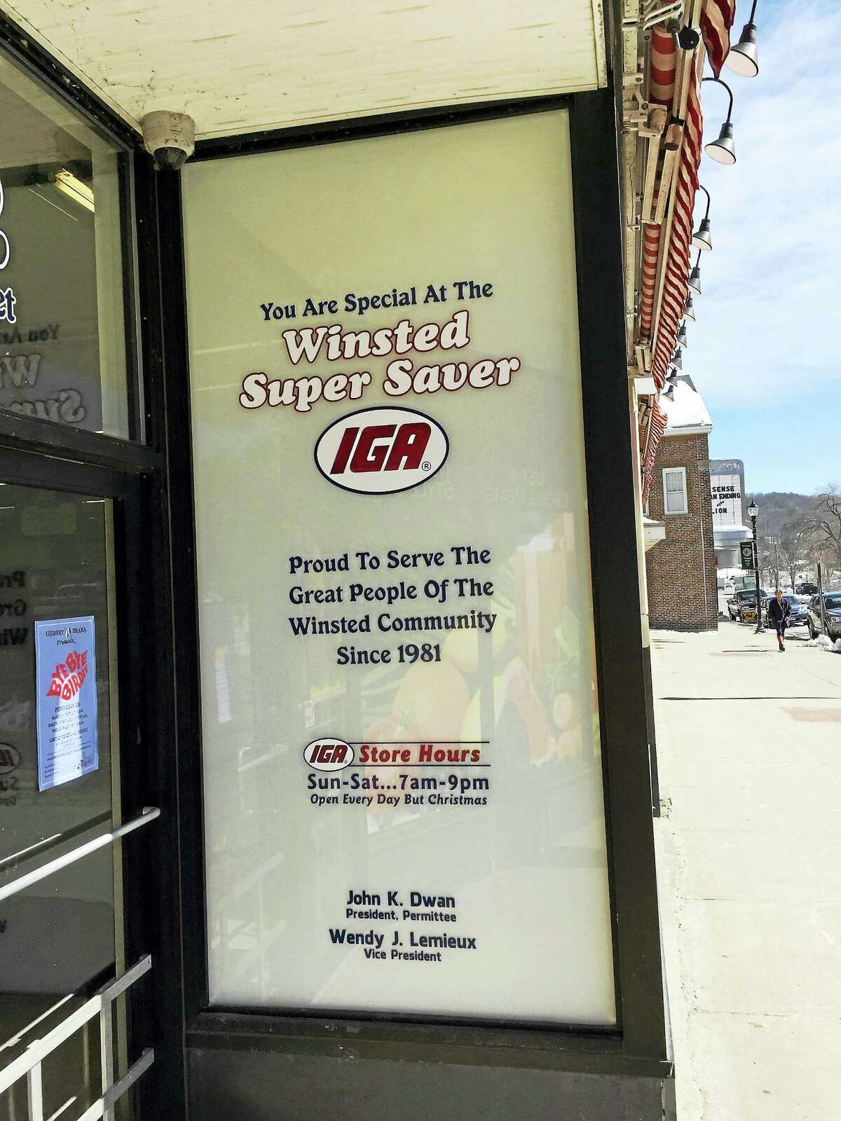 The IGA Winsted Super Saver on Main Street has been in business for decades.