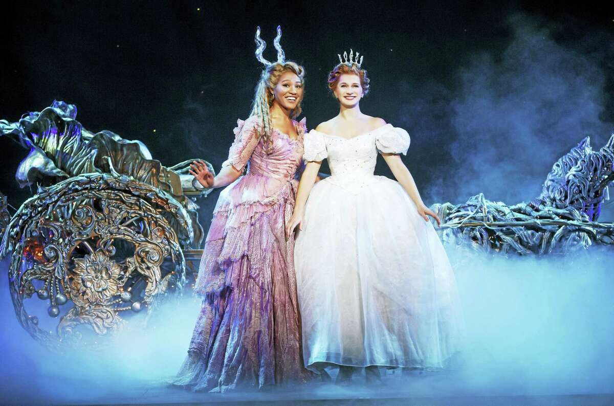 Photo by Carol Rosegg Leslie Jackson and Tatyana Lubov in Rodgers + Hammerstein's Cinderella, which is coming to the Palace in Waterbury for a limited engagement.