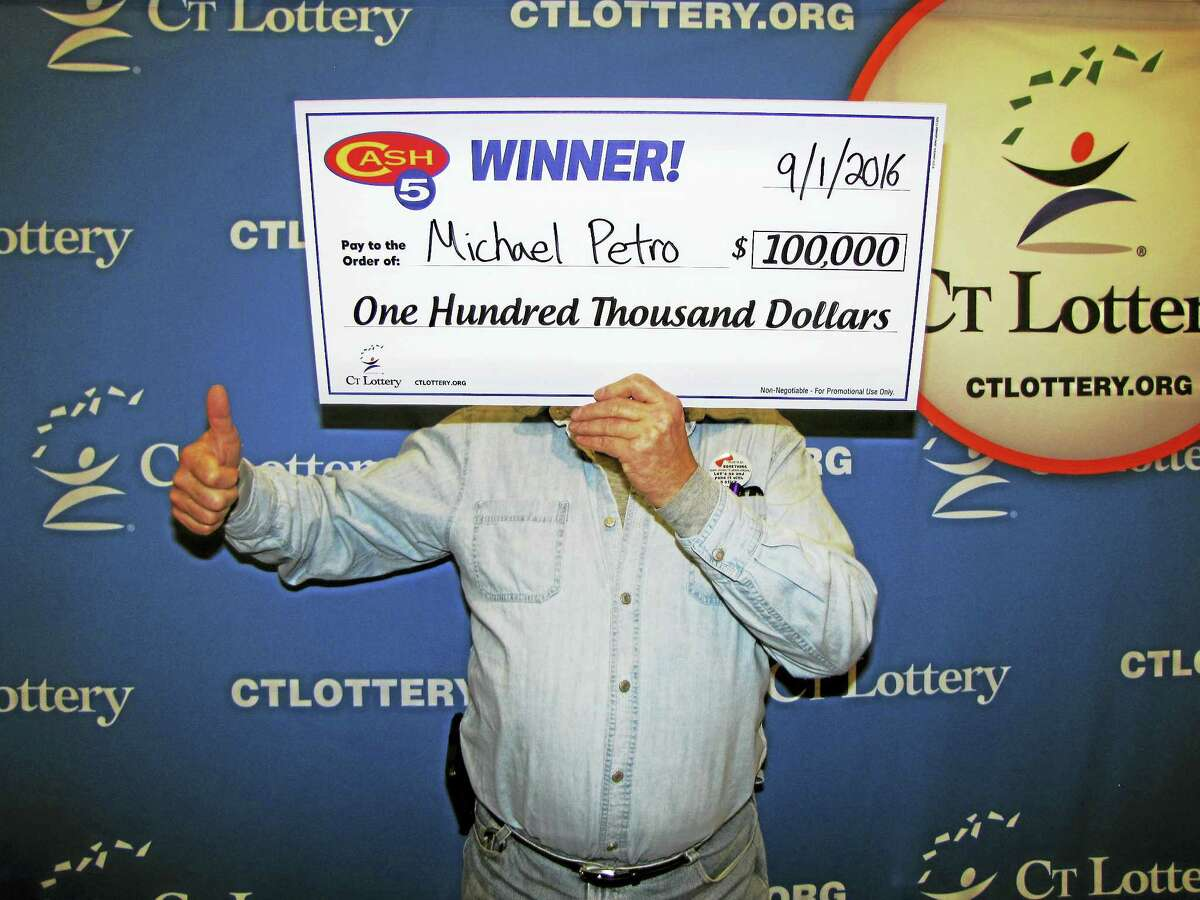 Michael Petro of Terryville recently won $100,000 in Connecticut Lottery's Cash5 drawing.