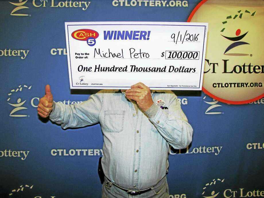 Michael Petro of Terryville recently won $100,000 in Connecticut Lottery's Cash5 drawing. Photo: Courtesy CT Lottery