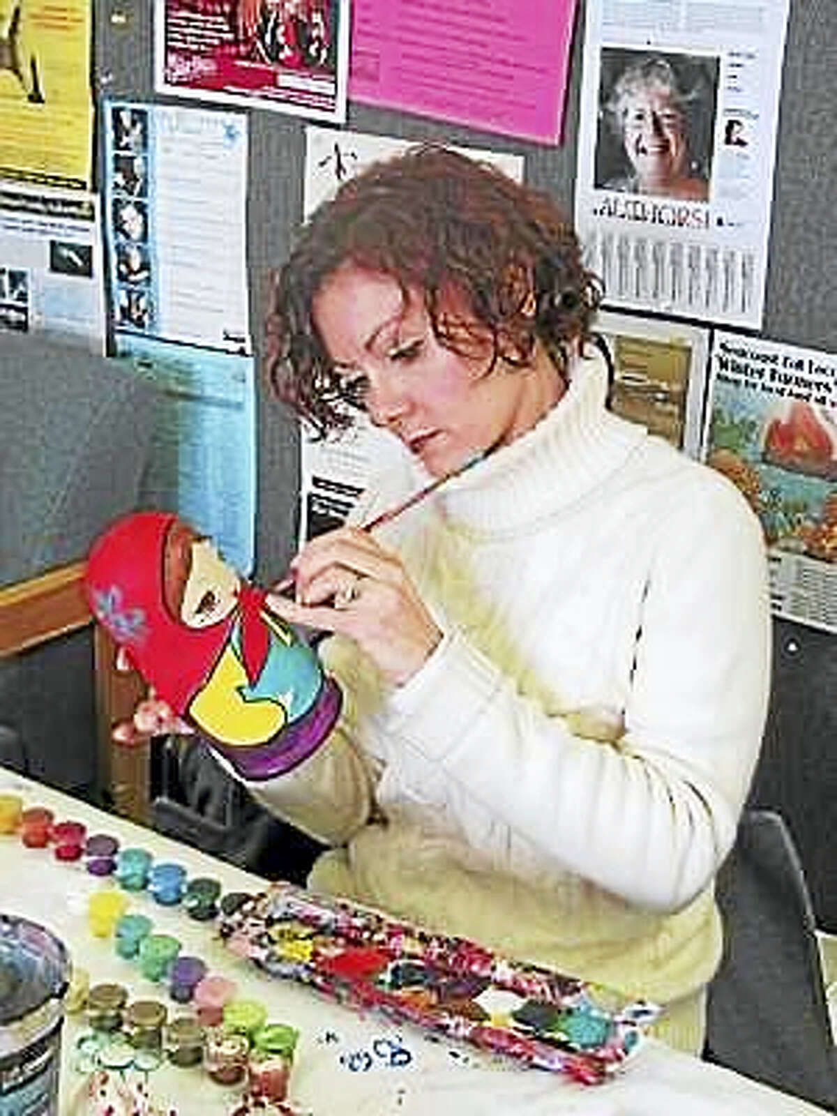A Matryoshka Nested Doll Painting workshop with storytelling will be held on Saturday, April 8, 1-4 p.m., led by Marina Forbes, a traditional Russian artist and lecturer.