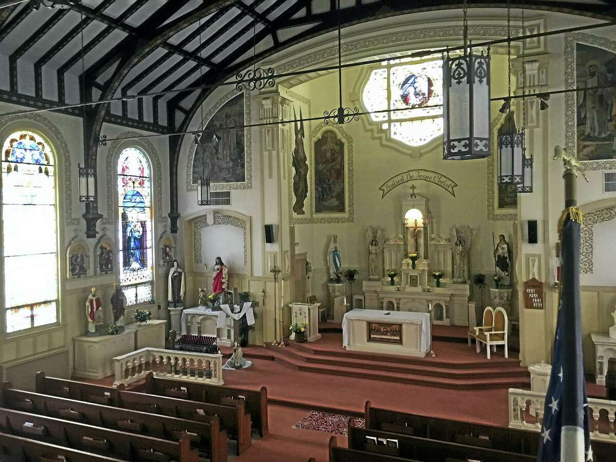 The sanctuary of Sacred Heart Church in Torrington. Sacred Heart is one of four Catholic churches that are part of a consolidation plan by the Hartford Archdiocese.