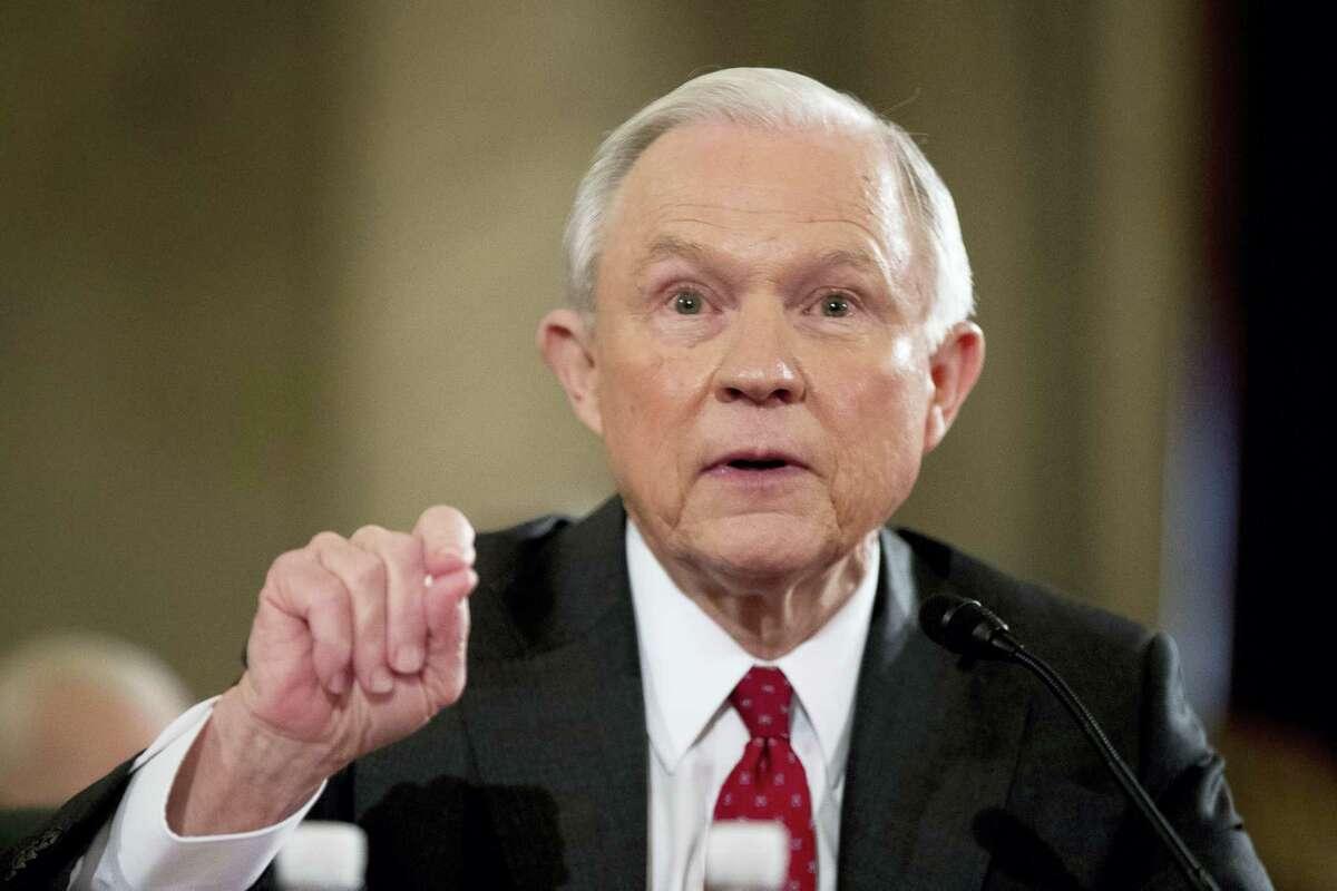 Attorney General-designate Sen. Jeff Sessions, R-Ala., testifies on Capitol Hill in Washington.
