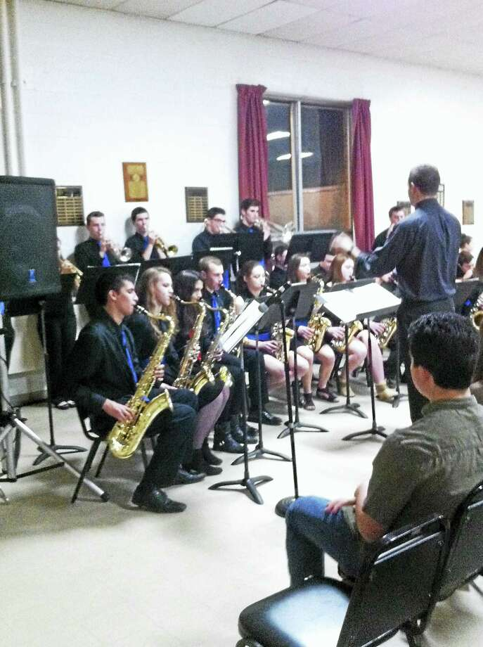 The Litchfield High School jazz ensemble, joined by Torrington High School's jazz ensemble and other musicians from LHS, will perform in the Southern New England High School Jazz Festival at Infinity Hall in Norfolk on Sunday, March 26. Photo: Contributed Photo