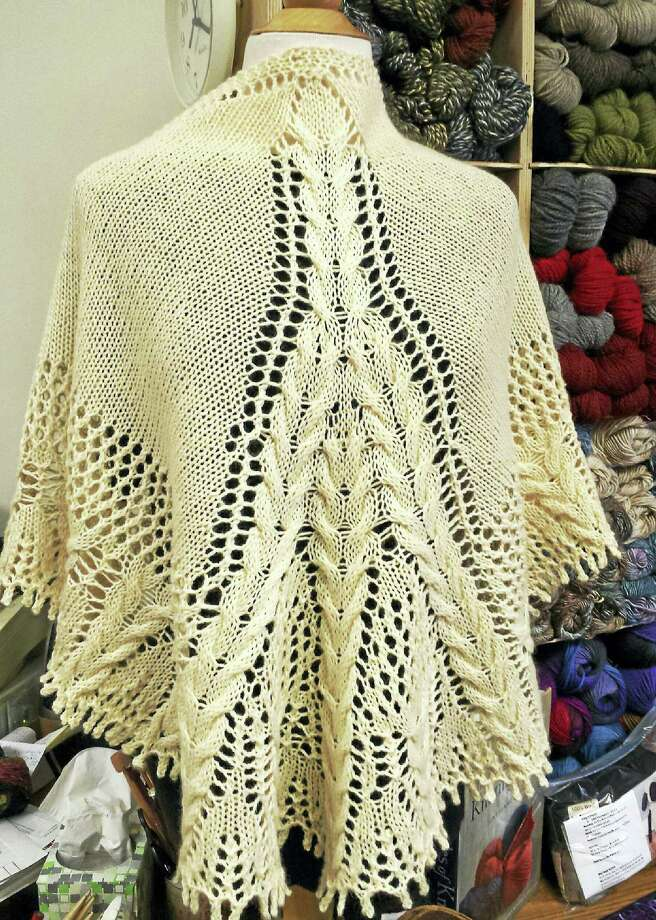 A shawl knit-along will be held Sunday at In Sheep's Clothing, 10 Water St., Torrington. Participants can learn to make a shawl like this one. Photo: Contributed Photo