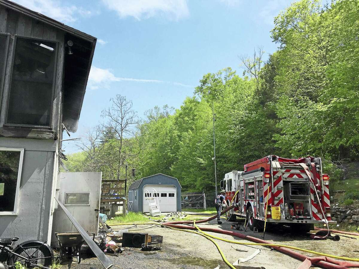 Torrington firefighters responded to a fire on Riverside Avenue early Thursday afternoon. No injuries were reported.