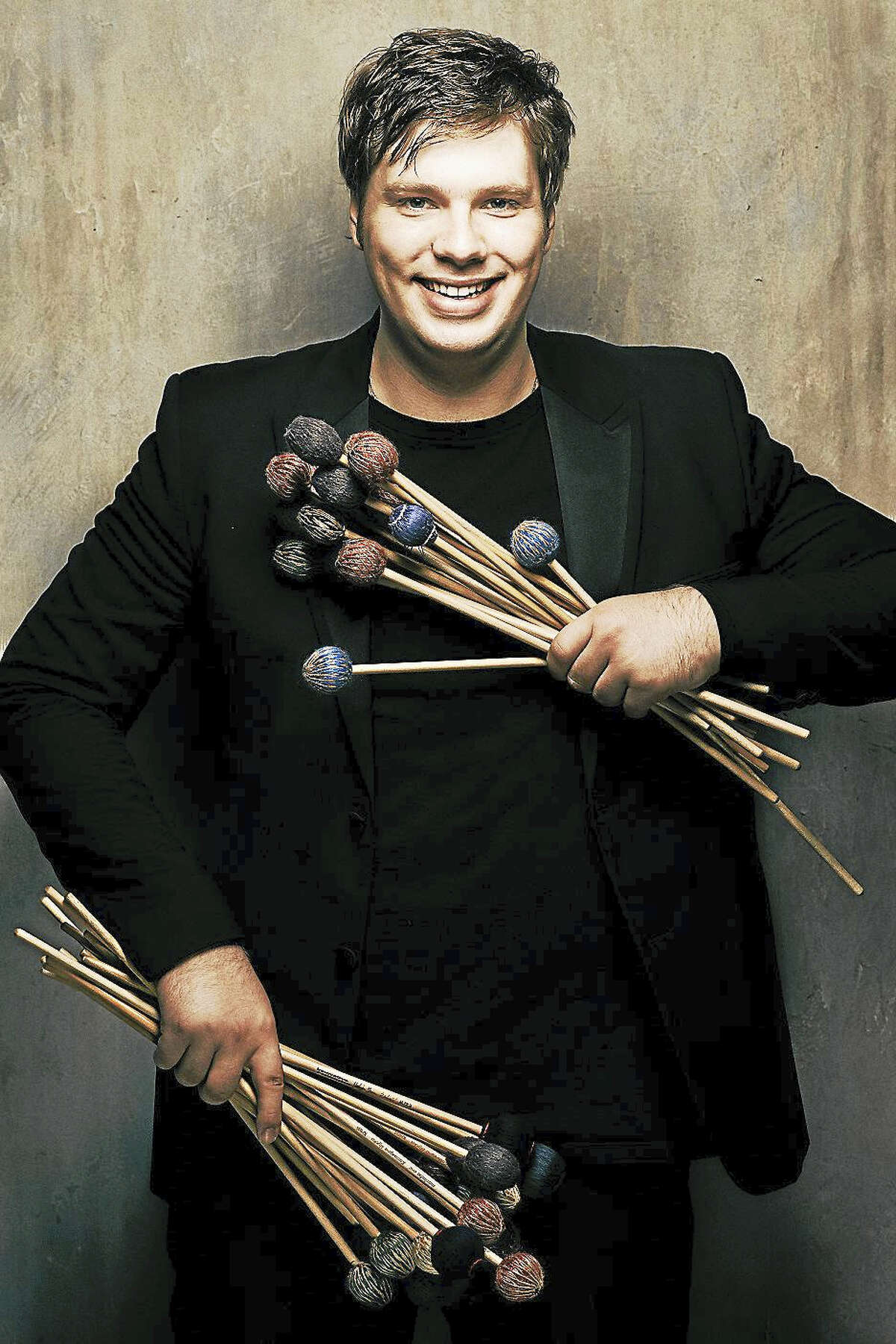 Contributed photoGuest percussionist Dmitri Nilov joins the HSO for its February concerts in Hartford.