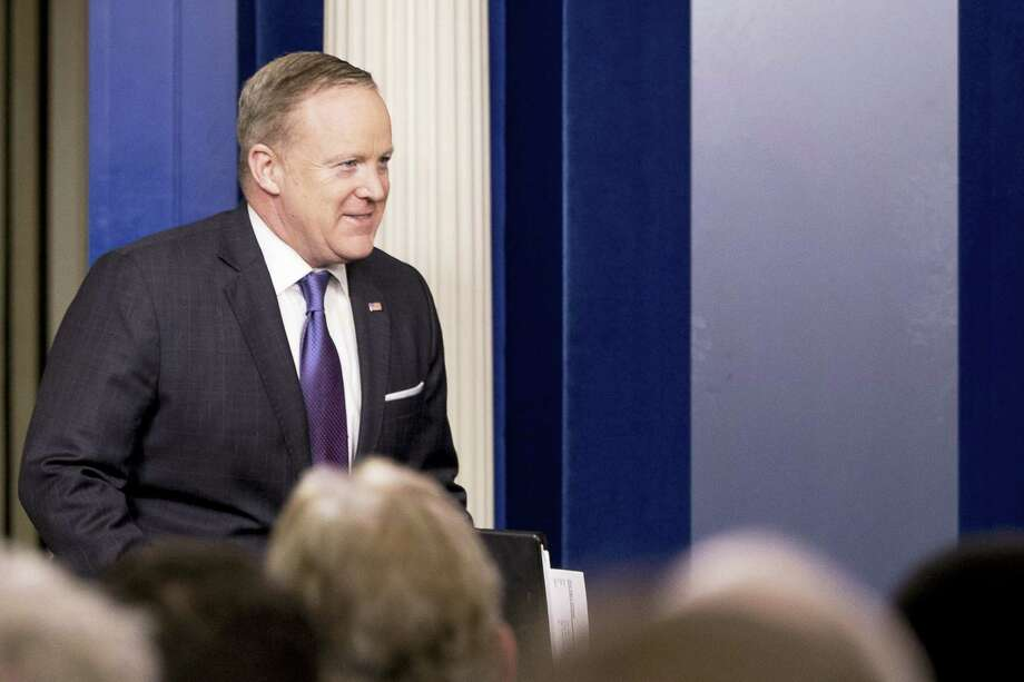White House press secretary Sean Spicer arrives for the daily press briefing at the White House in Washington, Monday, March 13, 2017. Photo: AP Photo/Andrew Harnik   / Copyright 2017 The Associated Press. All rights reserved.