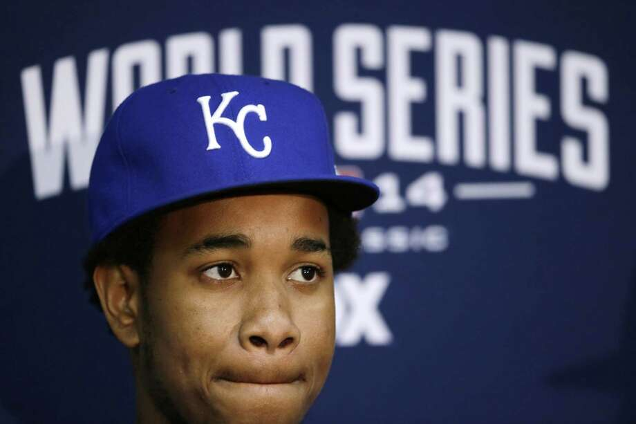 Kansas City Royals pitcher Yordano Ventura ponders a question during a news conference Oct. 27, 2014 in Kansas City. Photo: AP Photo/Charlie Neibergall  / AP