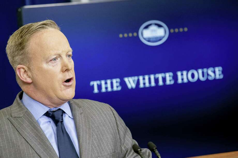 White House press secretary Sean Spicer speaks in the press briefing room at the White House on Jan. 21, 2017 in Washington. Photo: AP Photo/Andrew Harnik  / Copyright 2017 The Associated Press. All rights reserved.