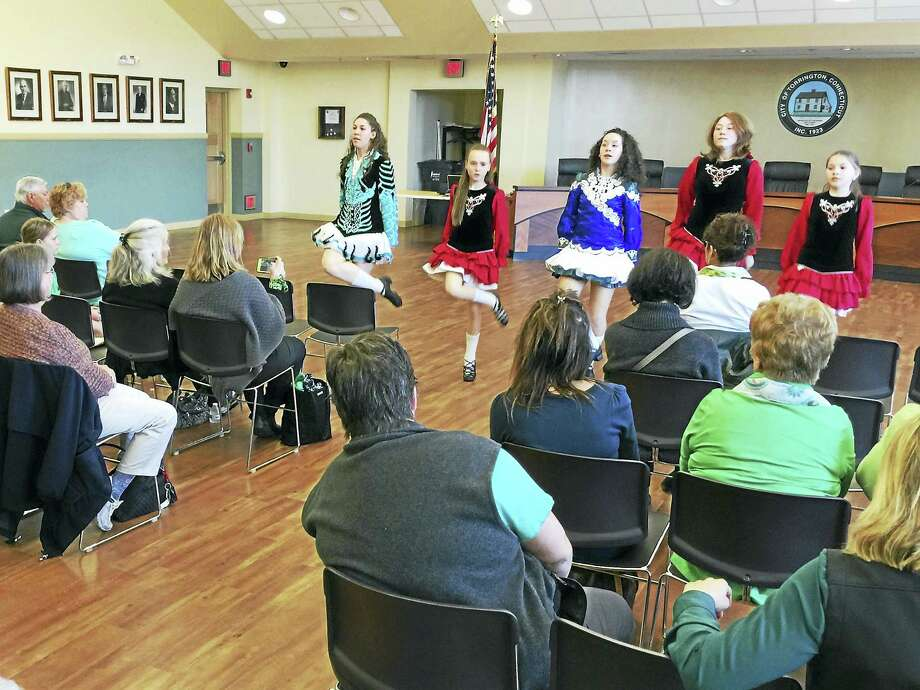 During the 2016 St. Patrick's Day celebration and Lord Mayor ceremony, the McArdle Dancers performed at Torrington City Hall. The group will perform again Friday for this year's celebration, naming June L. Butts Zeiner the 2017 Lord Mayor. Photo: Register Citizen File Photo