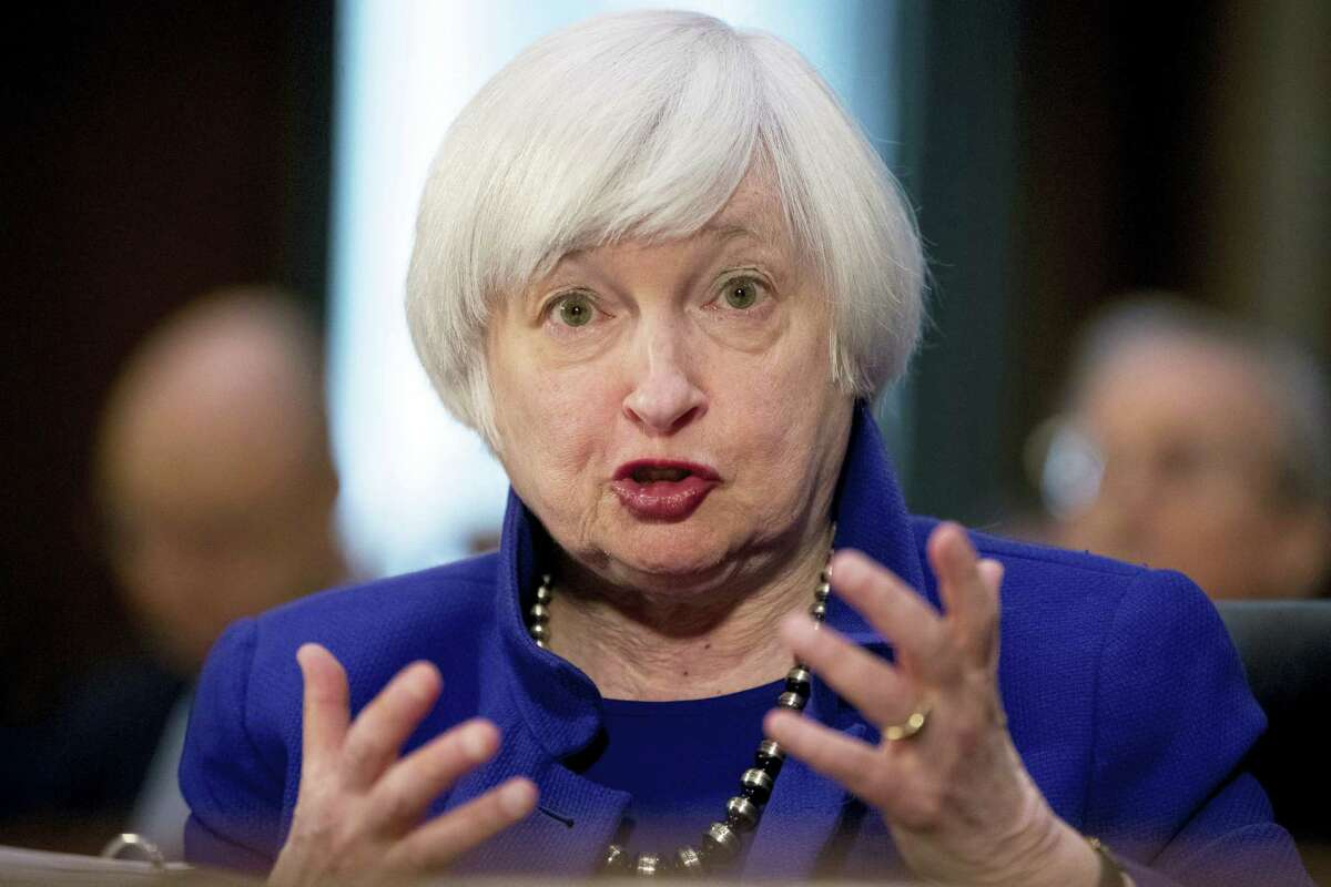 In this Tuesday, Feb. 14, 2017 photo, Federal Reserve Chair Janet Yellen testifies on Capitol Hill in Washington, before the Senate Banking Committee. The Fed seems all but sure to raise rates during the week of March 13, 2017 and to signal that more hikes are likely coming. Fed watchers appear buoyed by signs of a stronger economy than worried about whether slightly higher rates might slow growth.