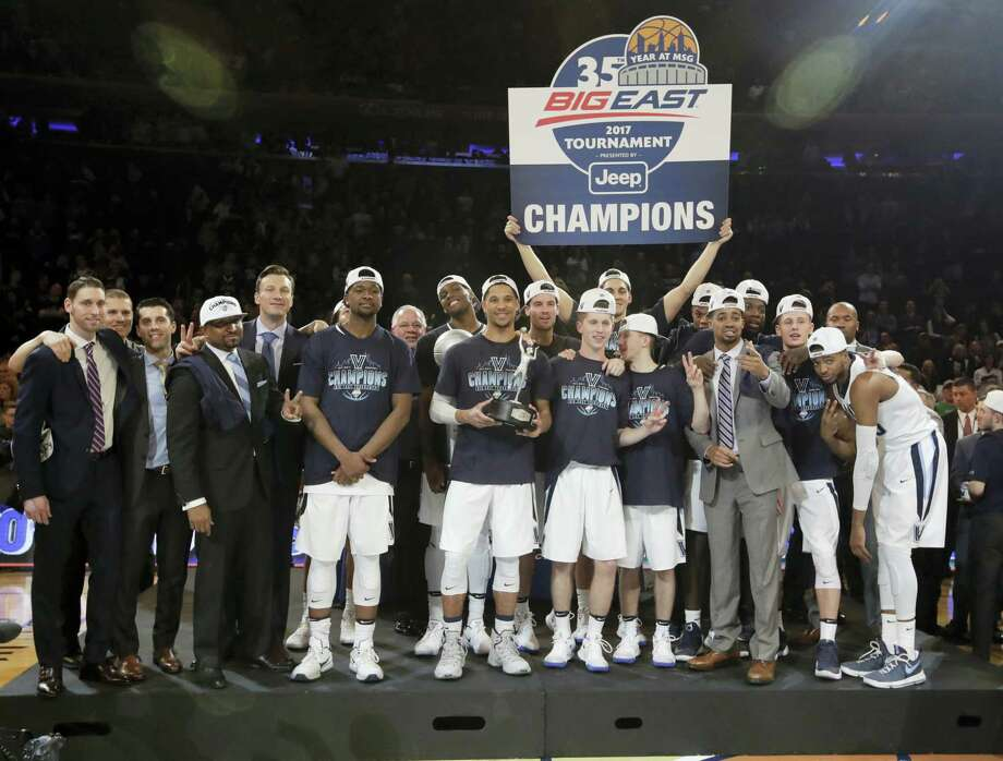 Big East champion Villanova is the top overall seed for the men's basketball NCAA Tournament. Photo: Frank Franklin II — The Associated Press  / Copyright 2017 The Associated Press. All rights reserved.