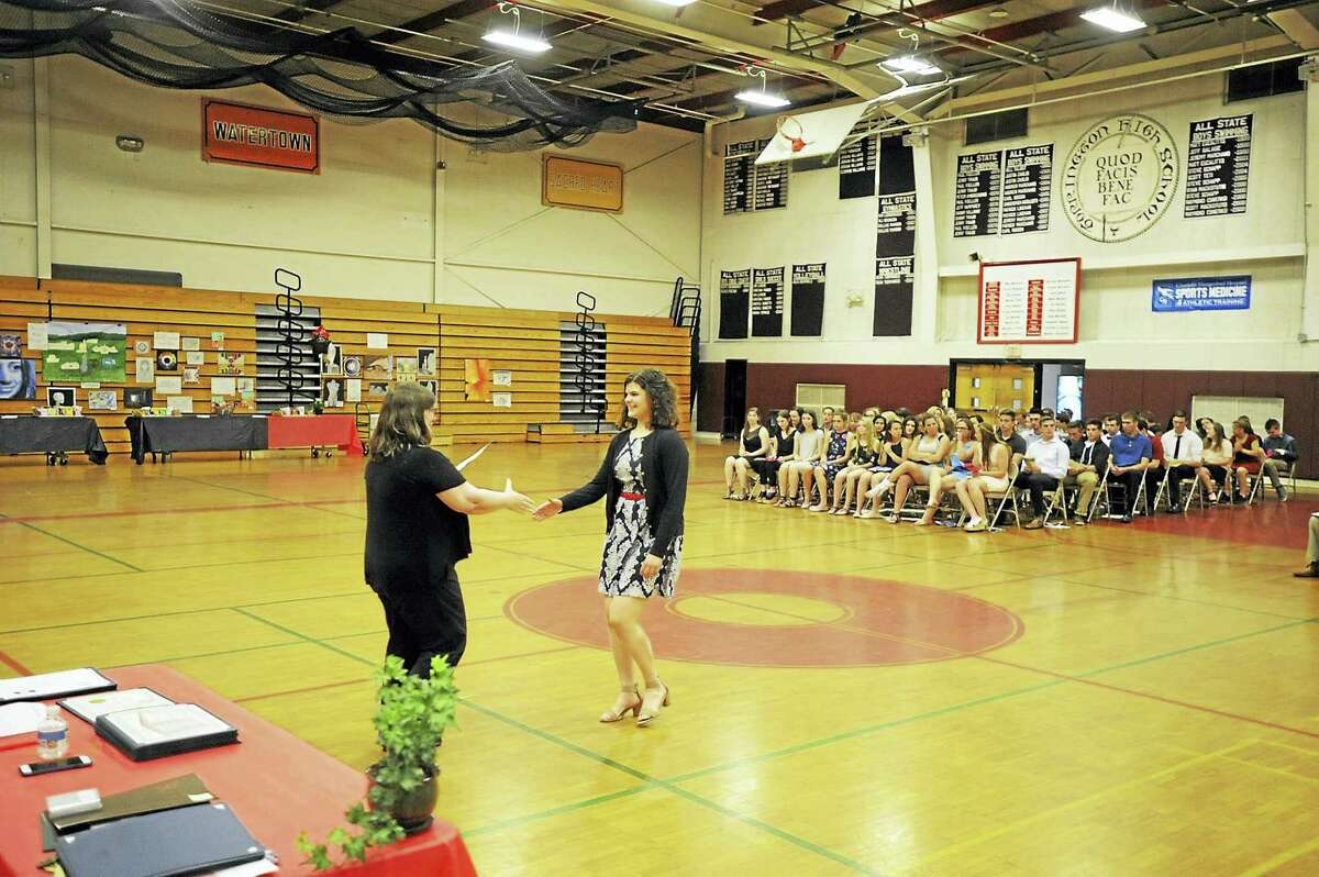 Ben Lambert - The Register Citizen Torrington High School students were recognized for their accomplishments Tuesday evening, as the annual Academic Awards Night was held.